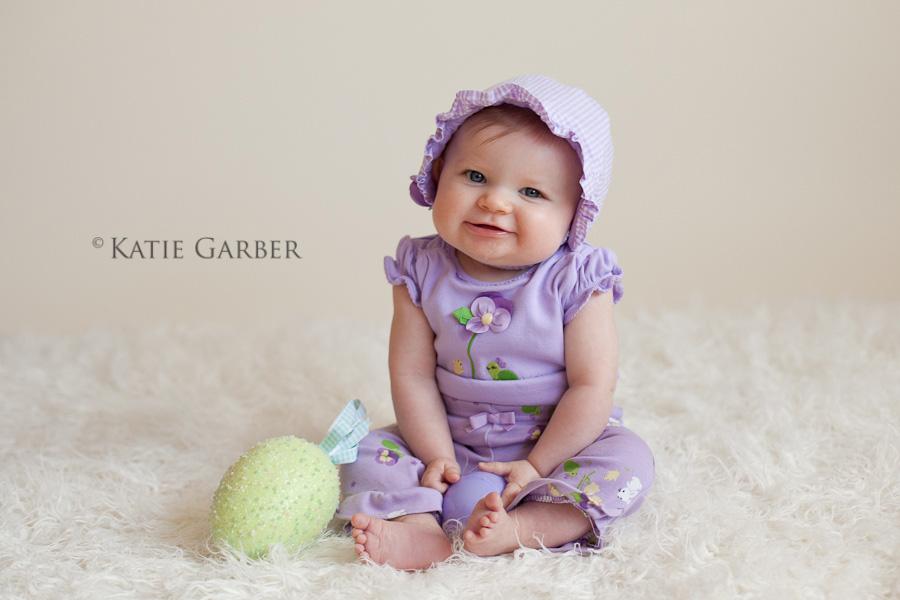 baby girl easter portrait