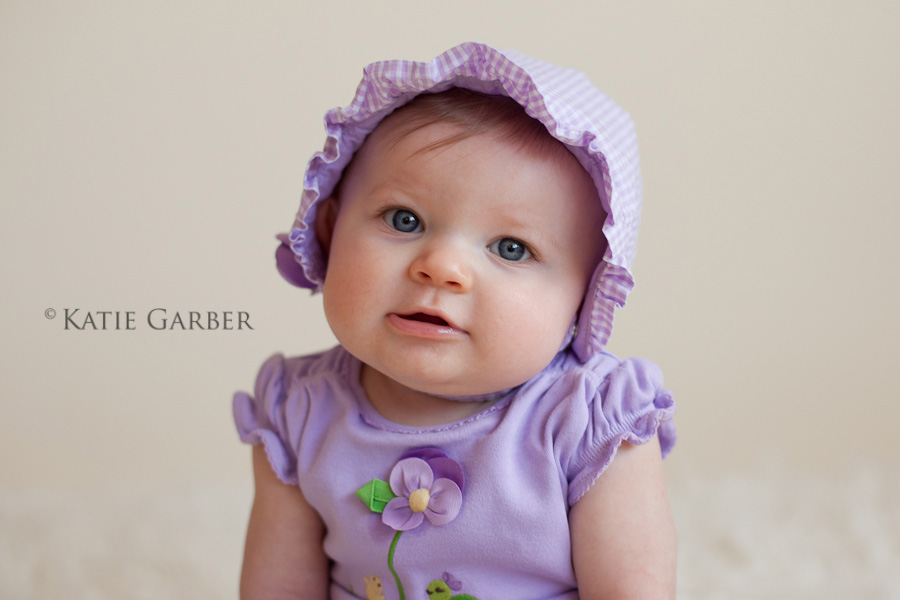 baby girl in bonnet
