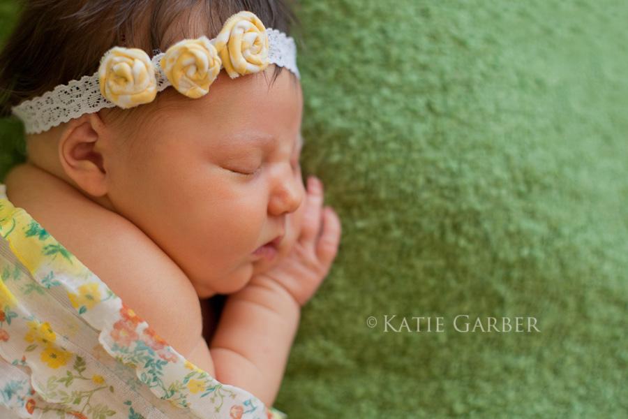 baby girl ruffle wrap and flower headband