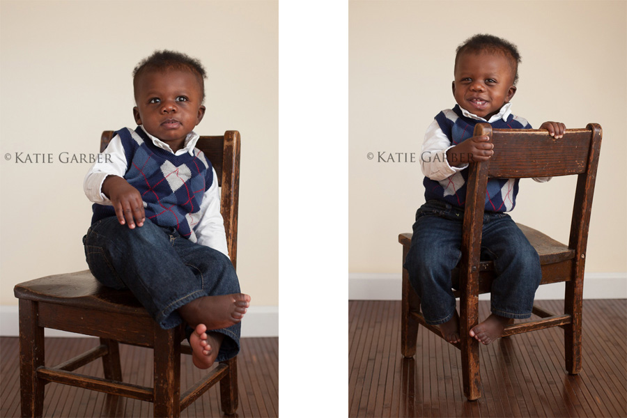 baby boy on chair