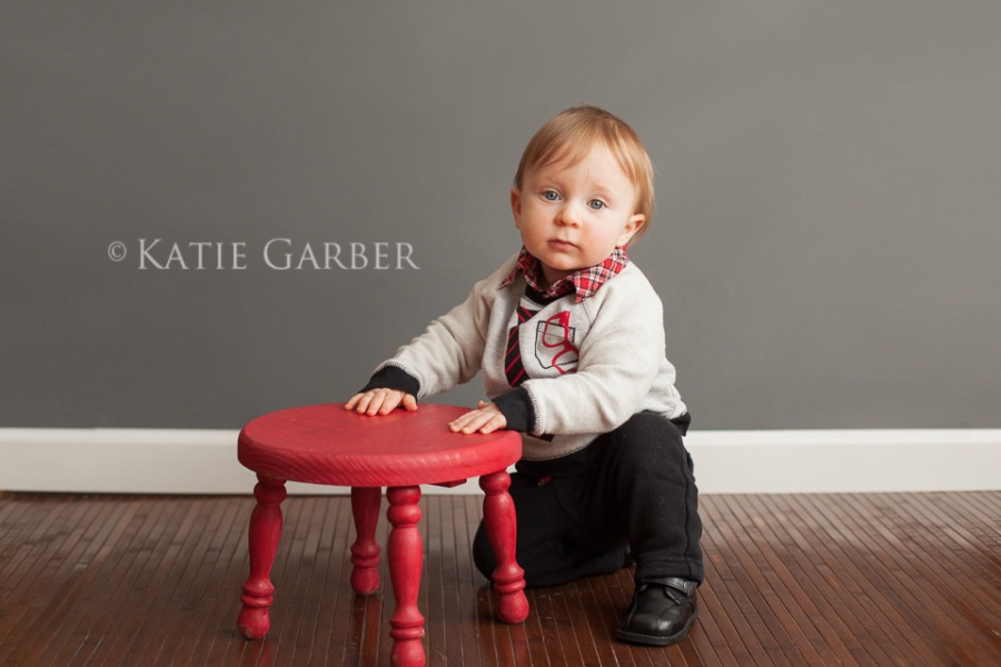 one year old with stool