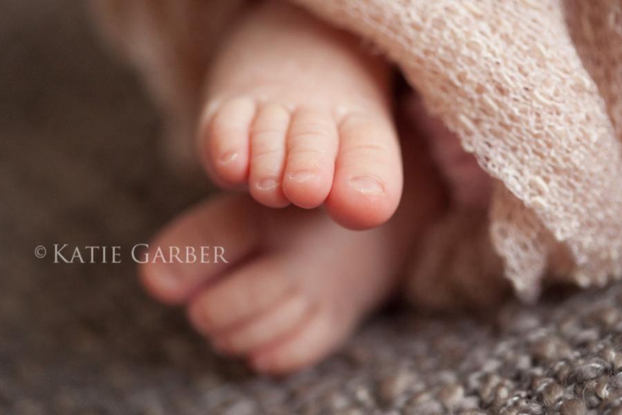 newborn macro toes