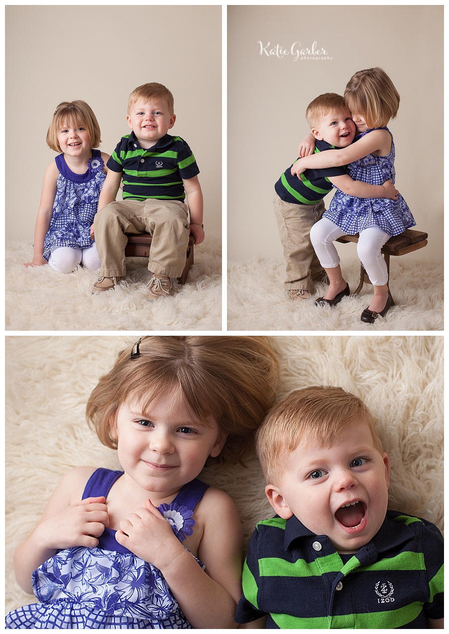 brother and sister sibling portraits