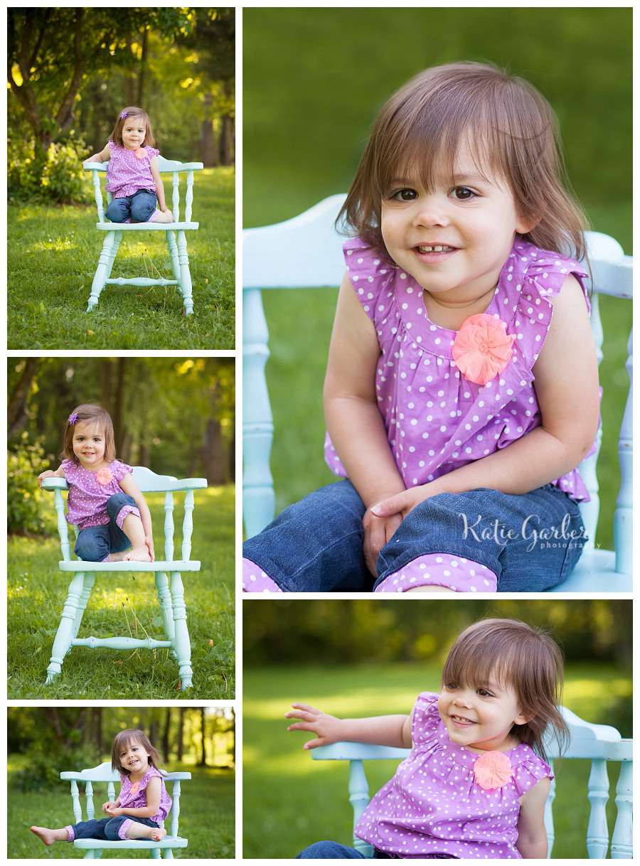 toddler girl sitting on chair