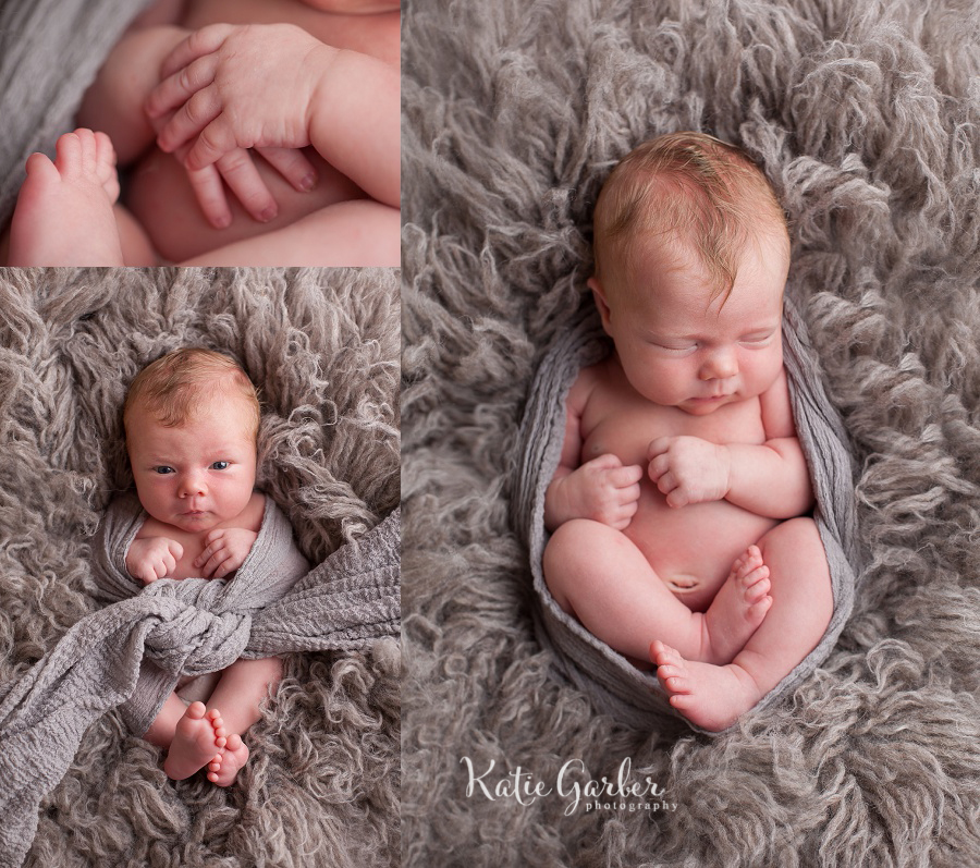 baby girl gray flokati