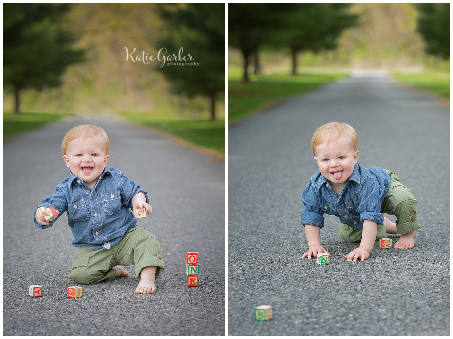 one year baby boy outdoor photo