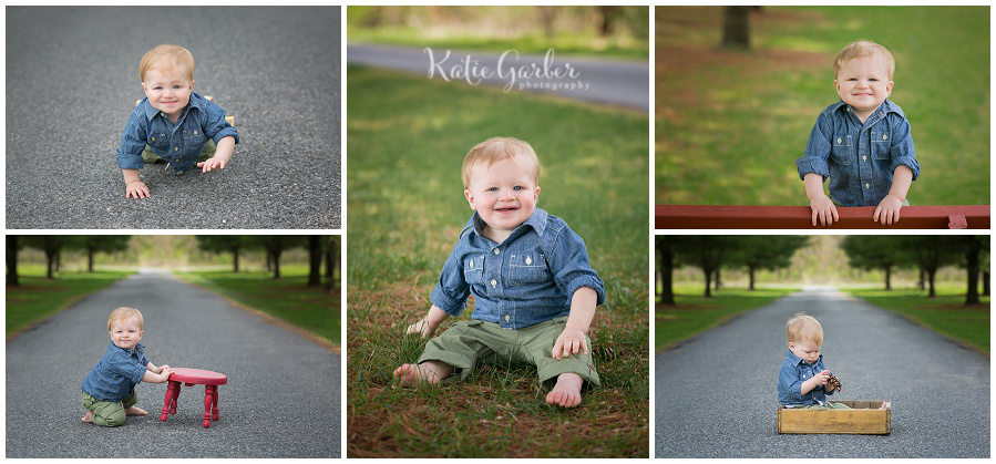 one year baby photos outdoor