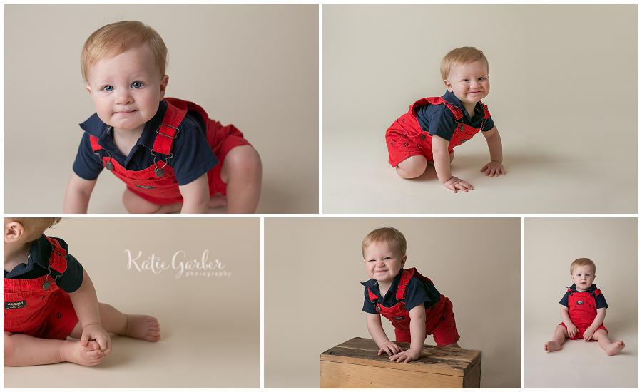 one year old boy indoor portrait