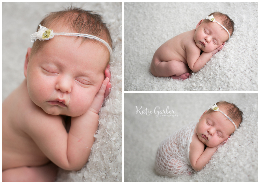 baby girl on white