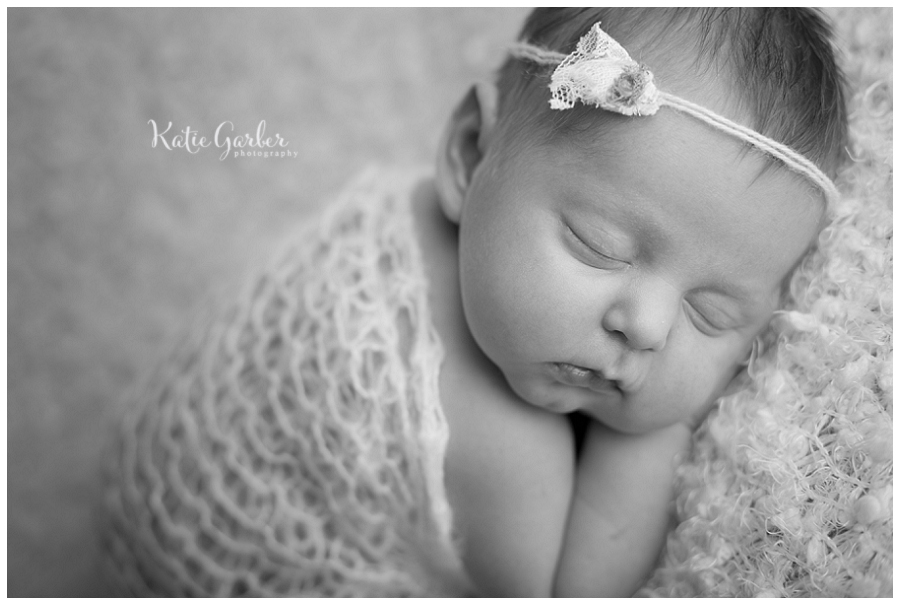 black and white newborn baby picture