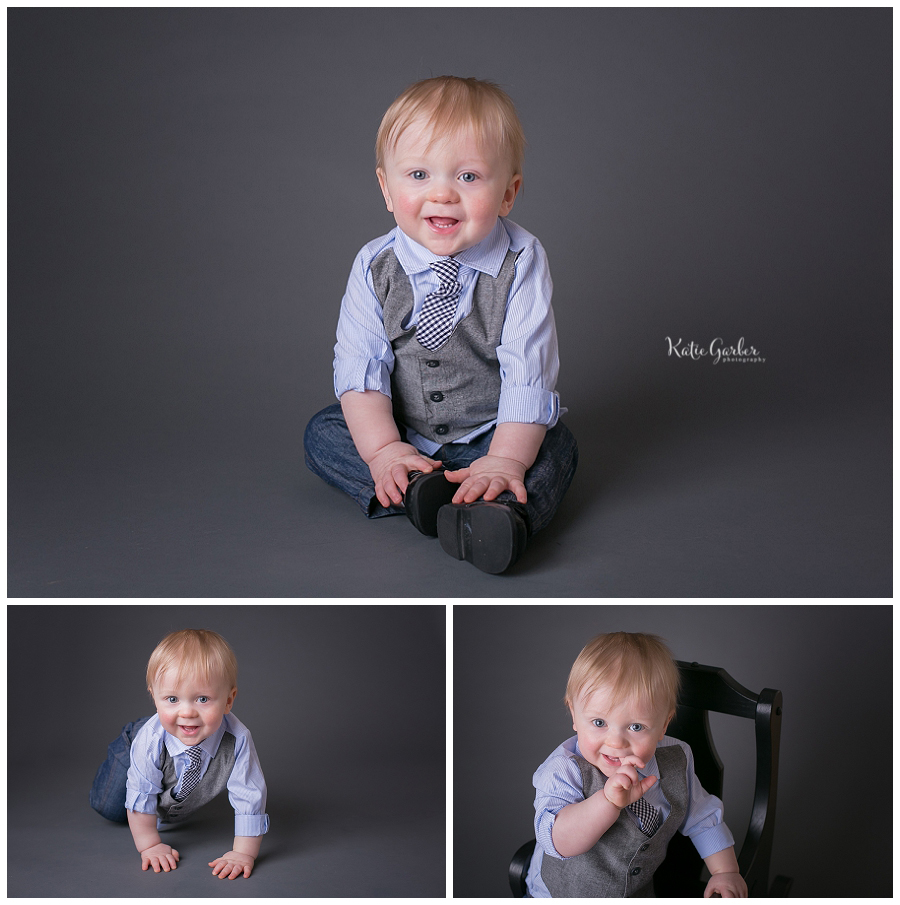one year baby boy portraits indoor