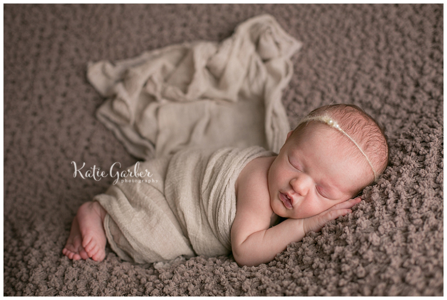 newborn baby girl flowy wrap
