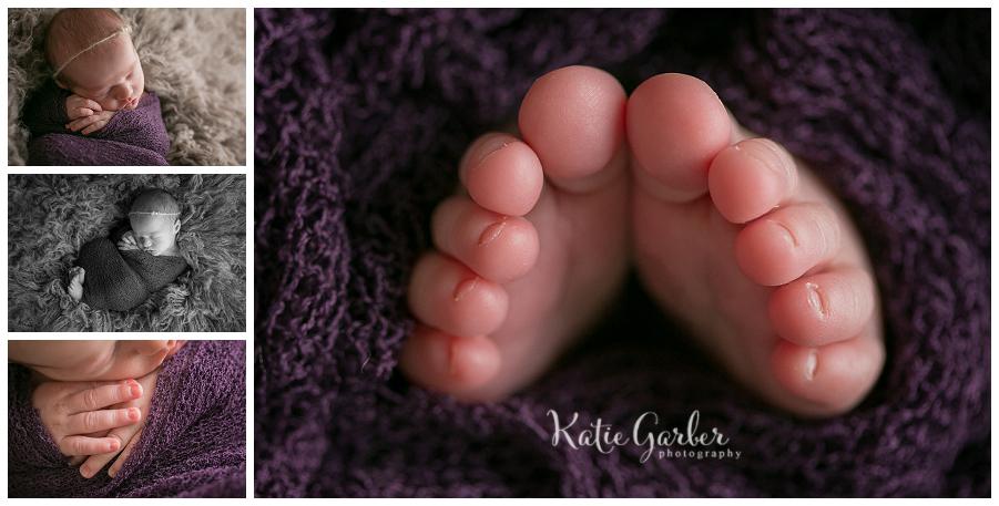 newborn baby toes macro