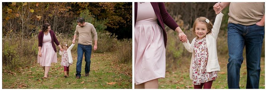 family-of-three-walking-path-photography