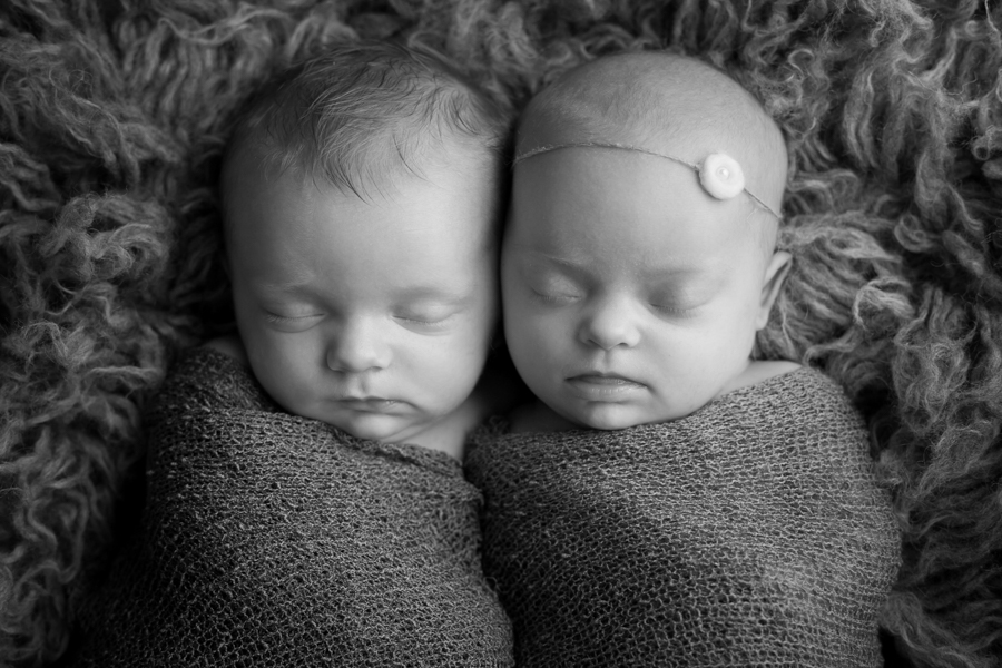 boy girl newborn twins