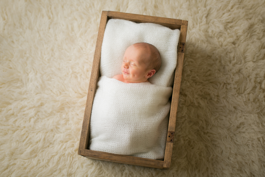 newborn baby photo box prop