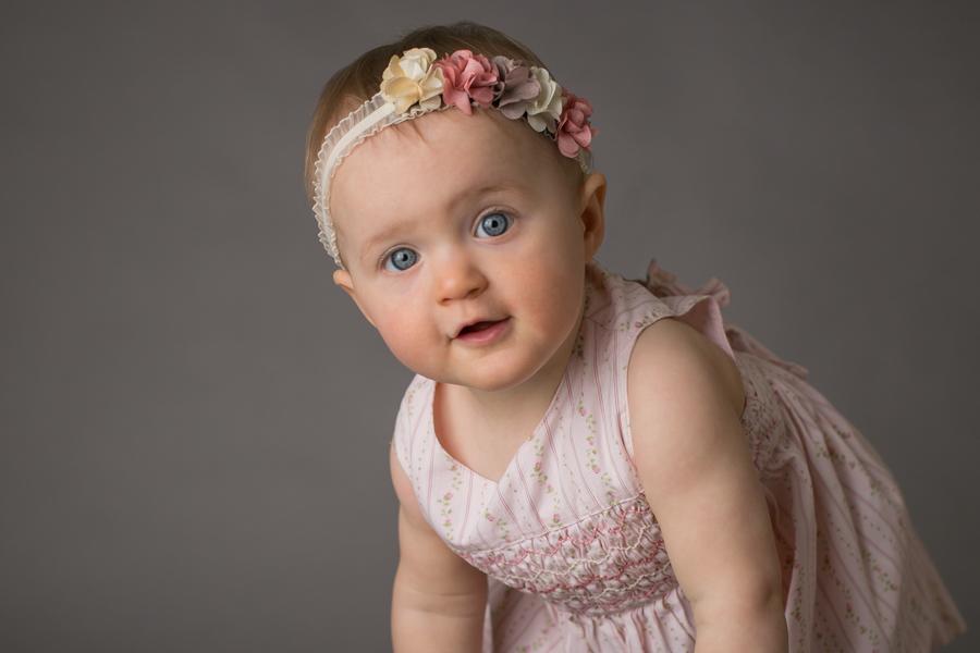 one year baby girl photo