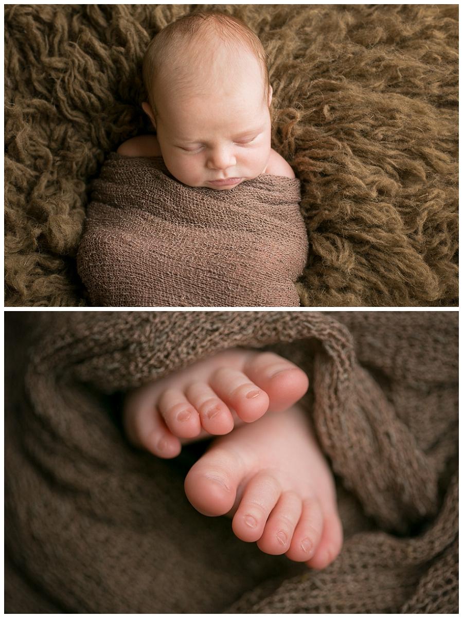 sleeping baby toes