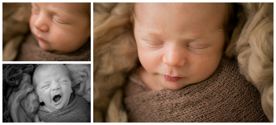 Katie Garber Photography – Williamsport newborn photographer – baby details yawn