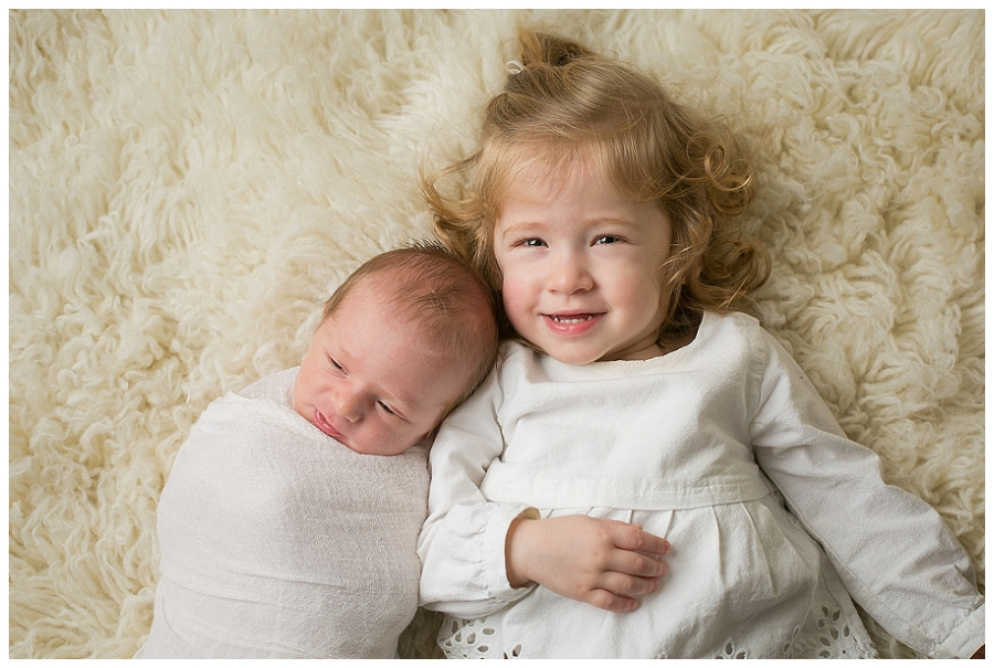 Katie Garber Photography – Williamsport newborn photographer – baby with toddler sibling