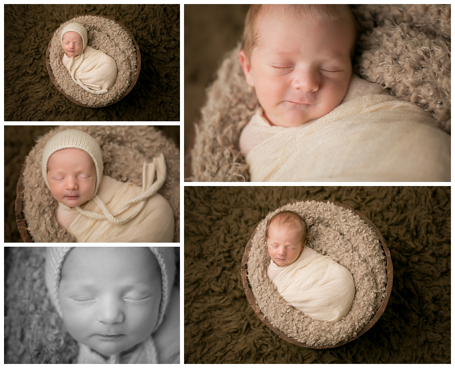 Katie Garber Photography – Williamsport newborn photographer – swaddled baby boy with hat
