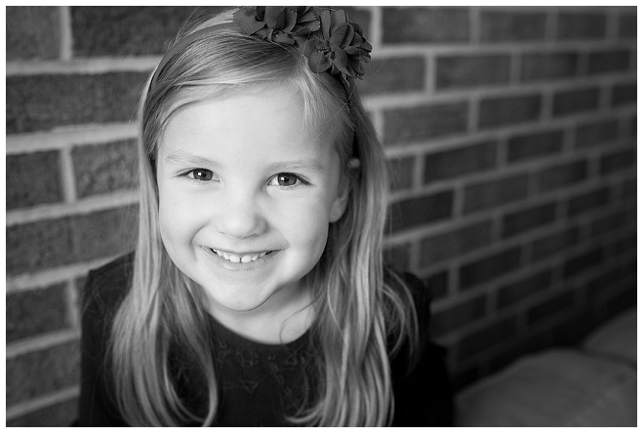 Katie Garber Photography – Williamsport child and family photographer – lifestyle black and white portrait of girl - Hadley 11-18
