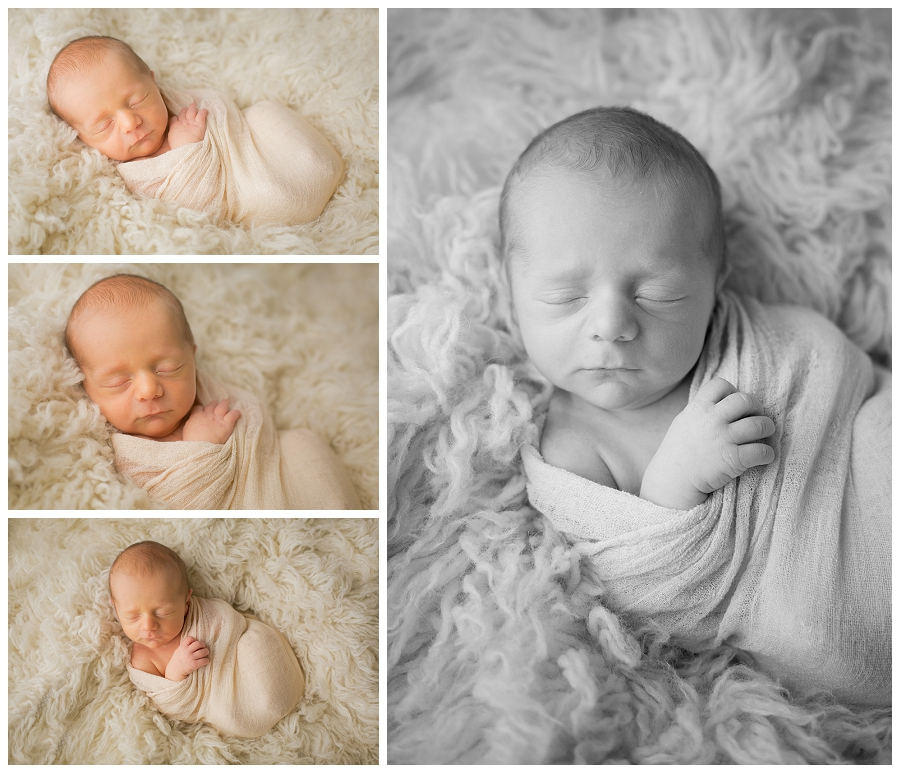 Katie Garber Photography – Williamsport newborn photographer – baby on flokati - Grant 11-18