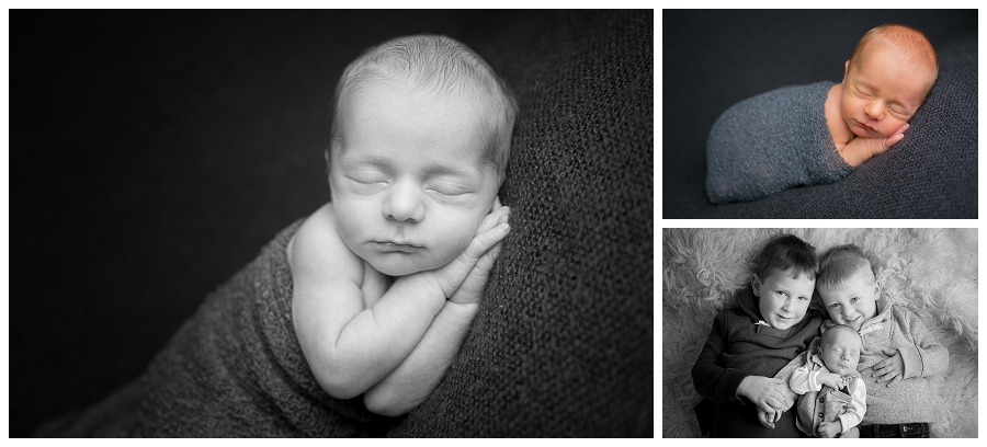 Katie Garber Photography – Williamsport newborn photographer – baby with siblings - Grant 11-18